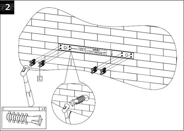 Cara memasang rak dinding 4