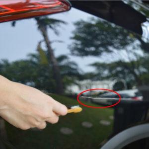 cara hilangkan goresan mobil