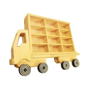 Dutchwood Rak Display Bentuk Truk 12 Slot - Krem