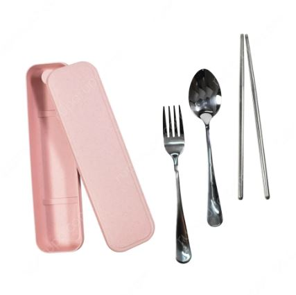 Gambar set peralatan makan
