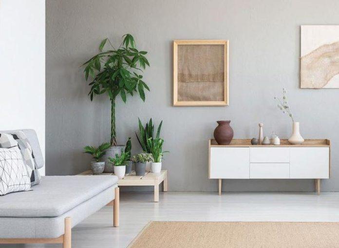 Gambar desain interior japandi