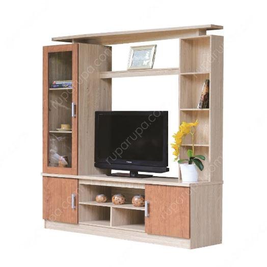 contoh desain furniture minimalis  yaitu lemari TV