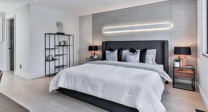 kamar tidur minimalis monochrome