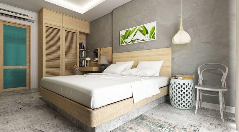 kamar tidur minimalis tema natural