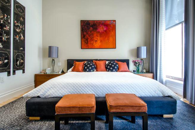 kamar tidur minimalis warna