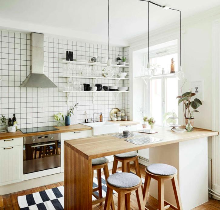 desain dapur minimalis scandinavian