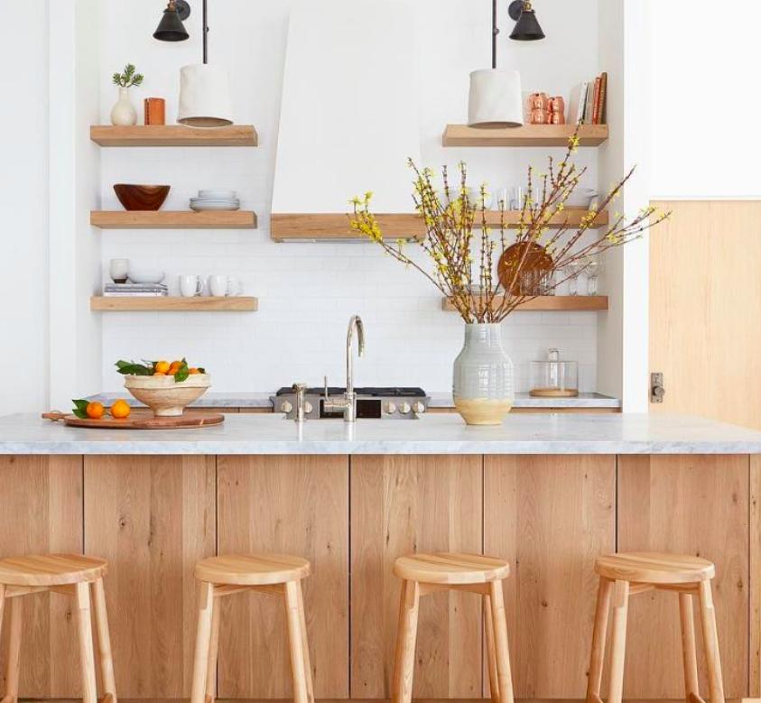 desain dapur berkonsep kayu