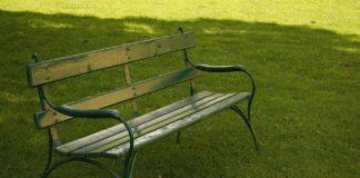 kursi taman besi