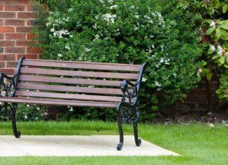 kursi taman dari besi