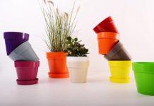 model pot bunga plastik