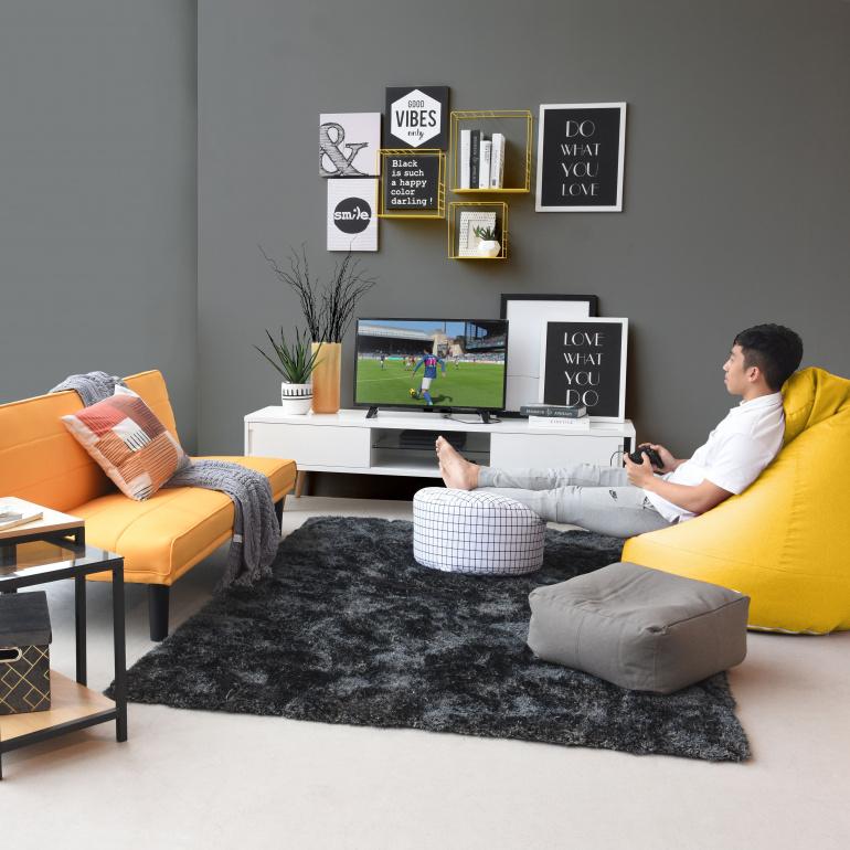 Black living room paint color