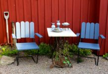 menghias meja teras