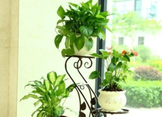 rak besi pot bunga
