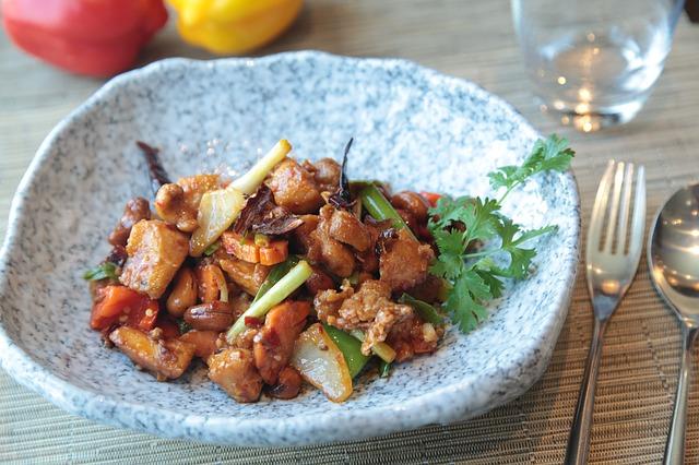 menu diet seminggu ayam szechuan