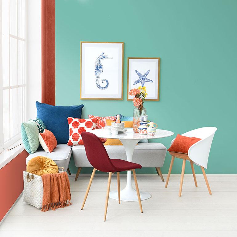 Warna cat ruangan tamu hijau