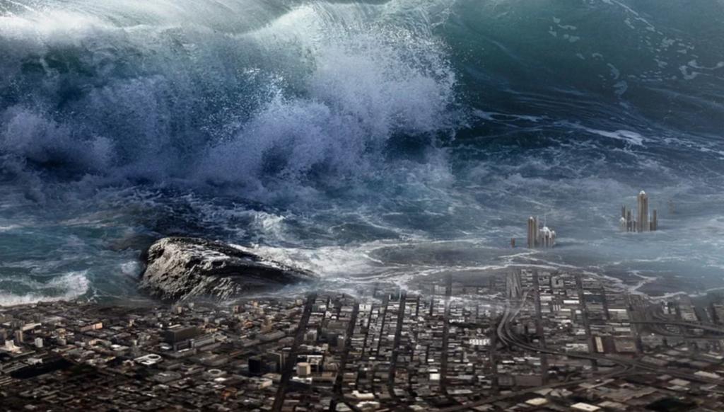 Tsunami penyebab banjir