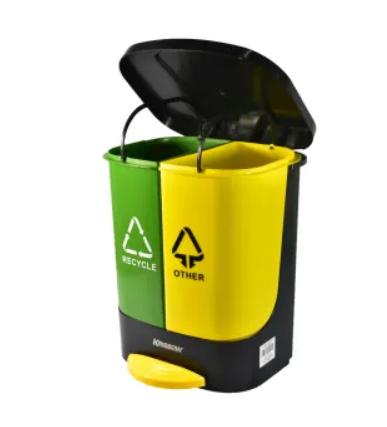 2 unit trash cans