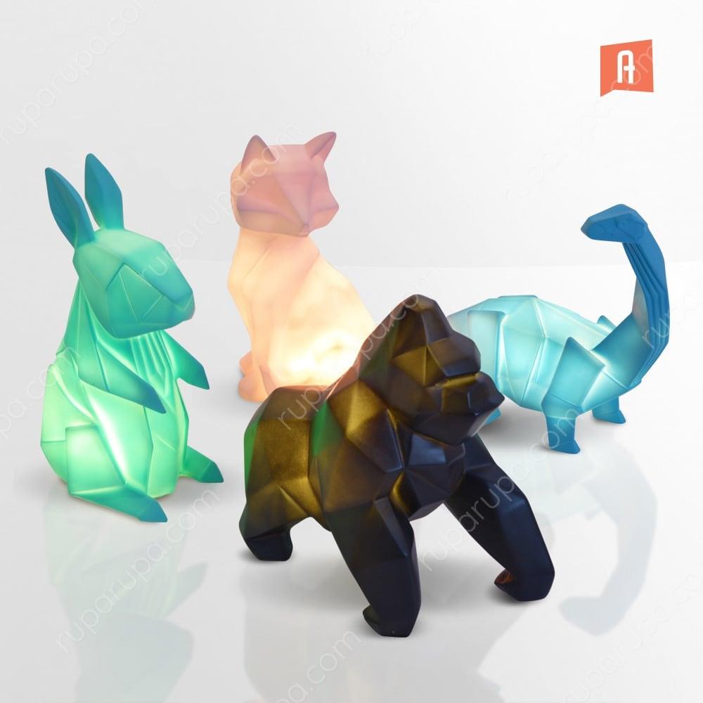 Lampu hias origami