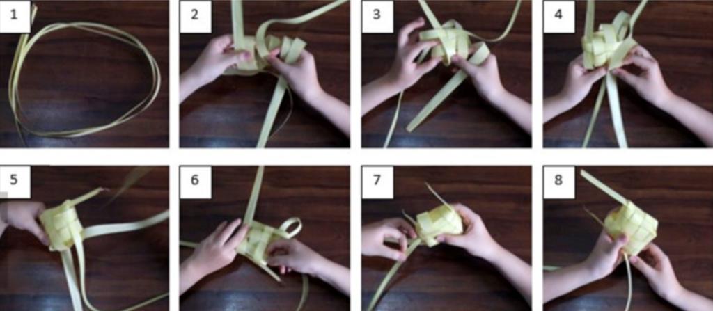 Cara mengayam ketupat yang benar