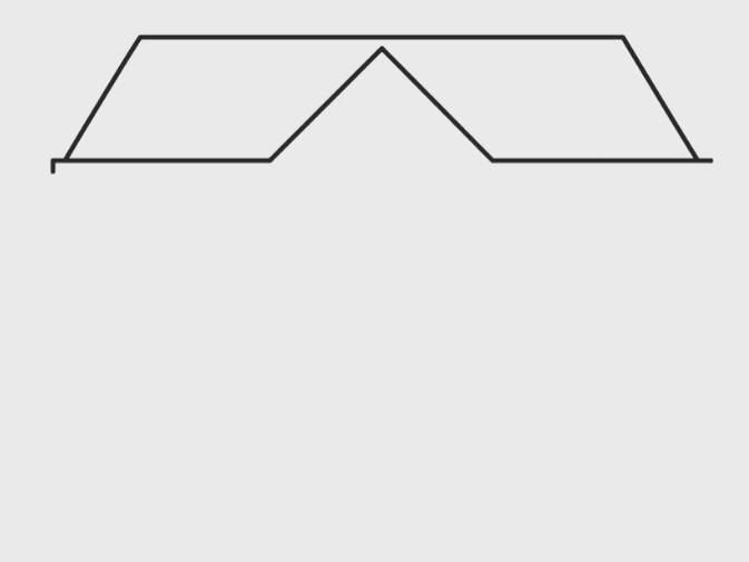 menggambar atap rumah