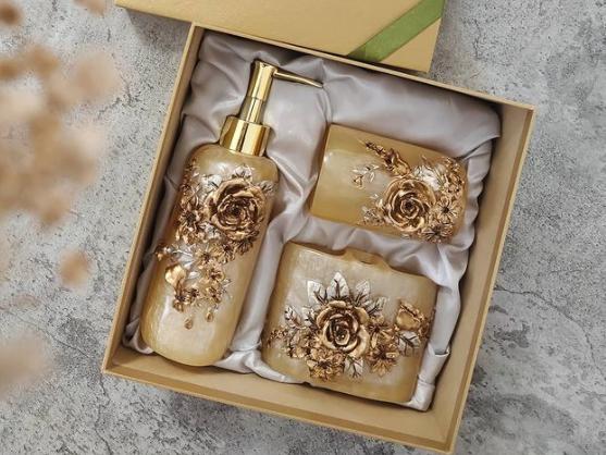 a unique soap holder as an Eid parcel