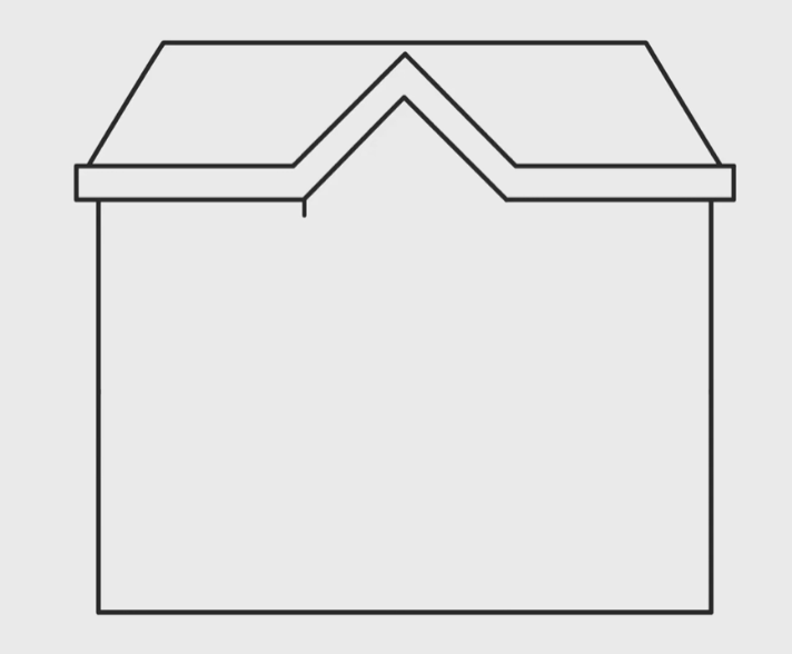 draw the walls of the house