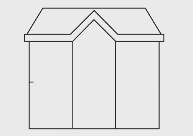 draw the center of the house