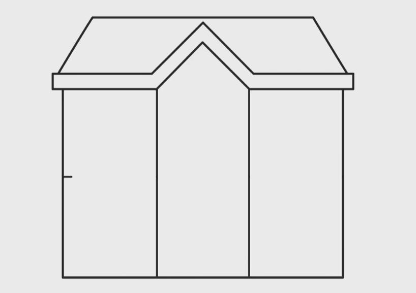 menggambar bagian tengah rumah