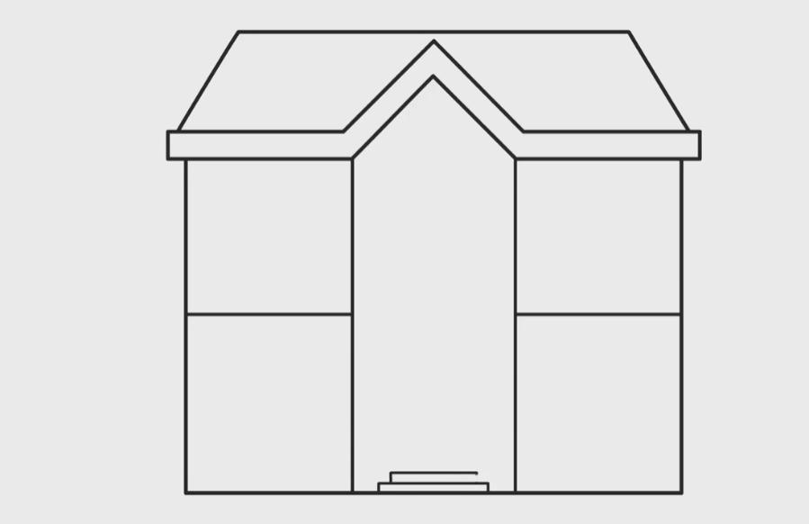 menggambar tangga rumah