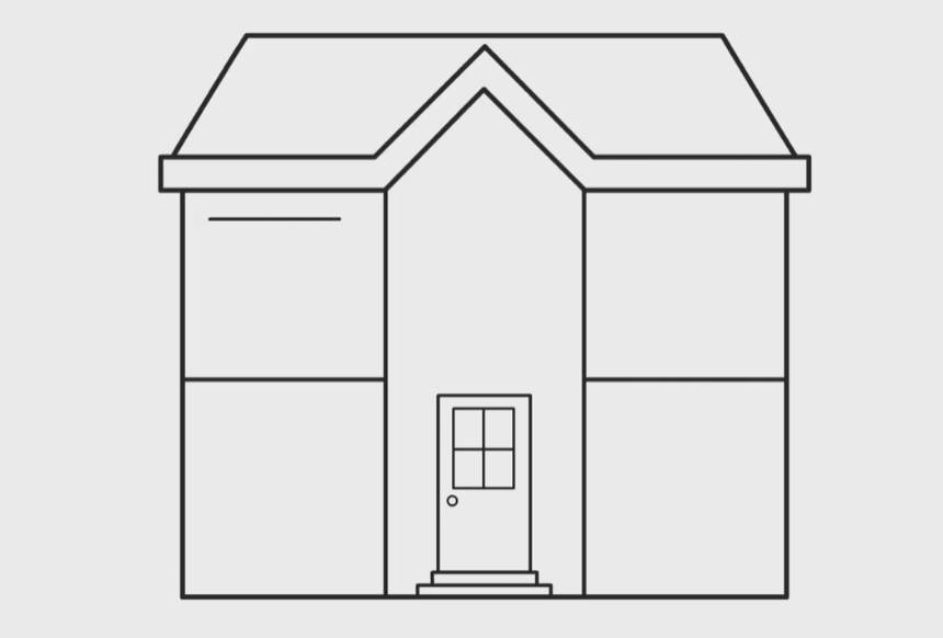 draw the door of the house