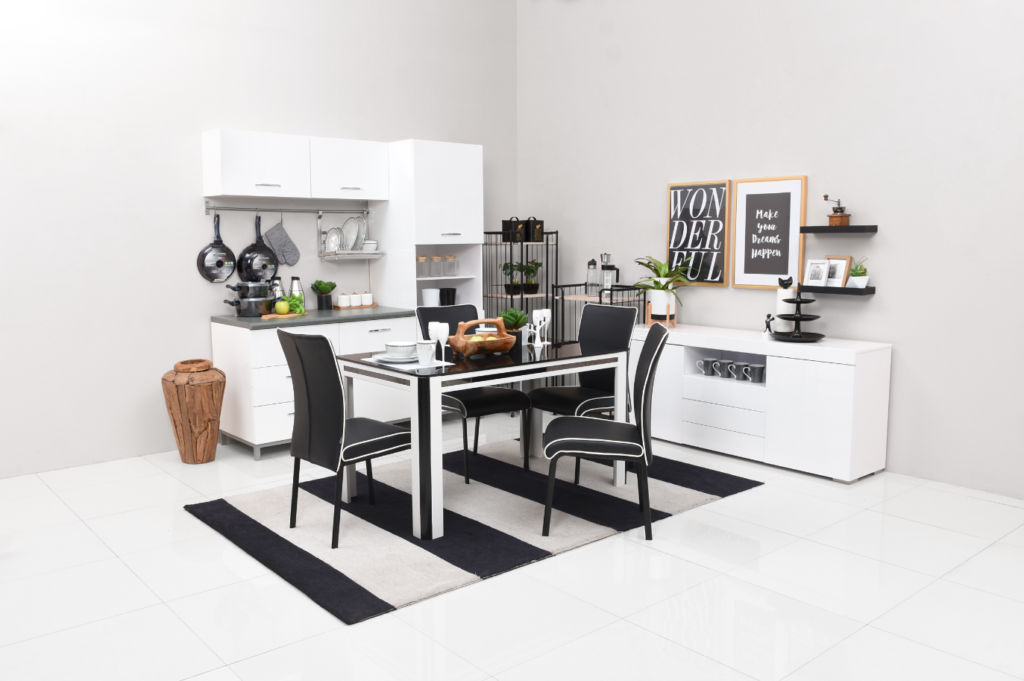 Desain dapur minimalis 3x3 monokrom