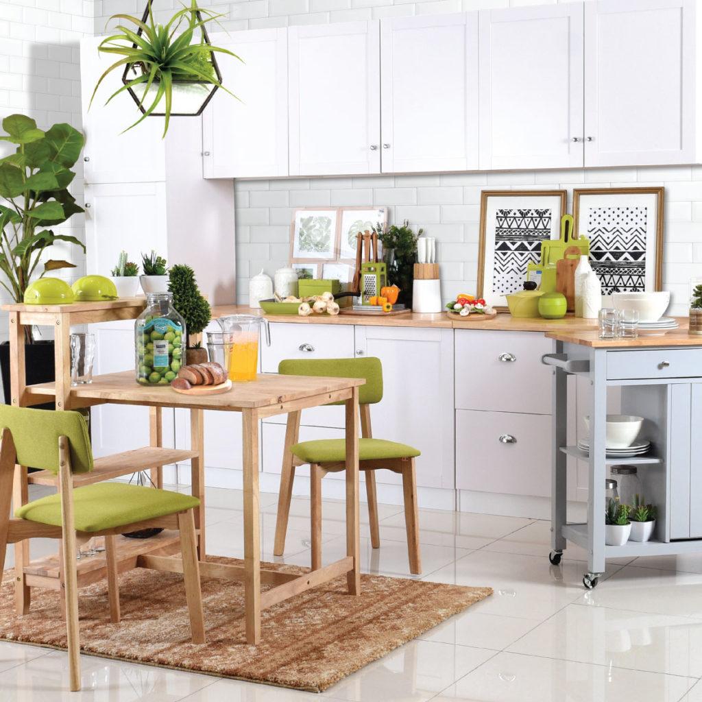 Konsep dapur alam yang menenangkan