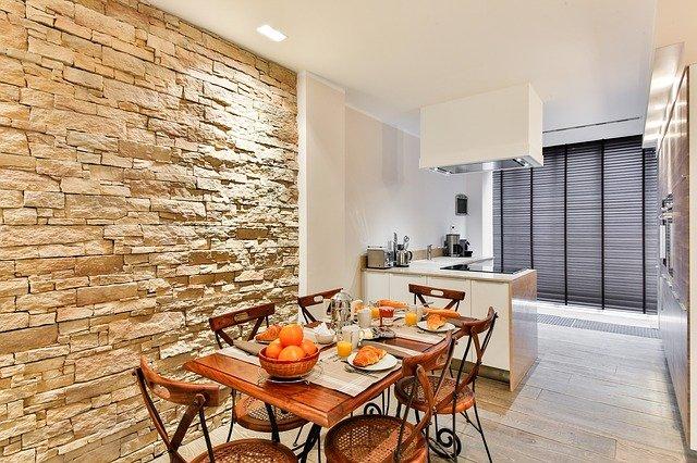 Dapur dengan batu marmer