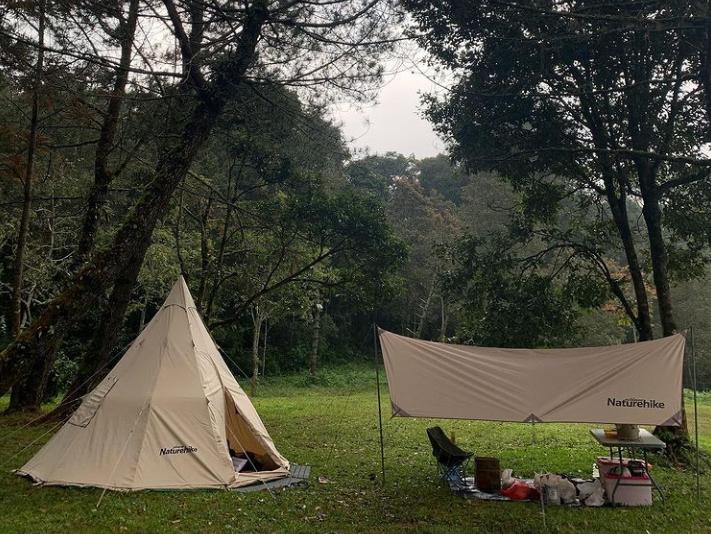 tempat camping di jugle milk