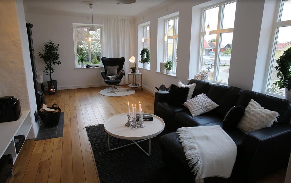 ruang tamu scandinavian