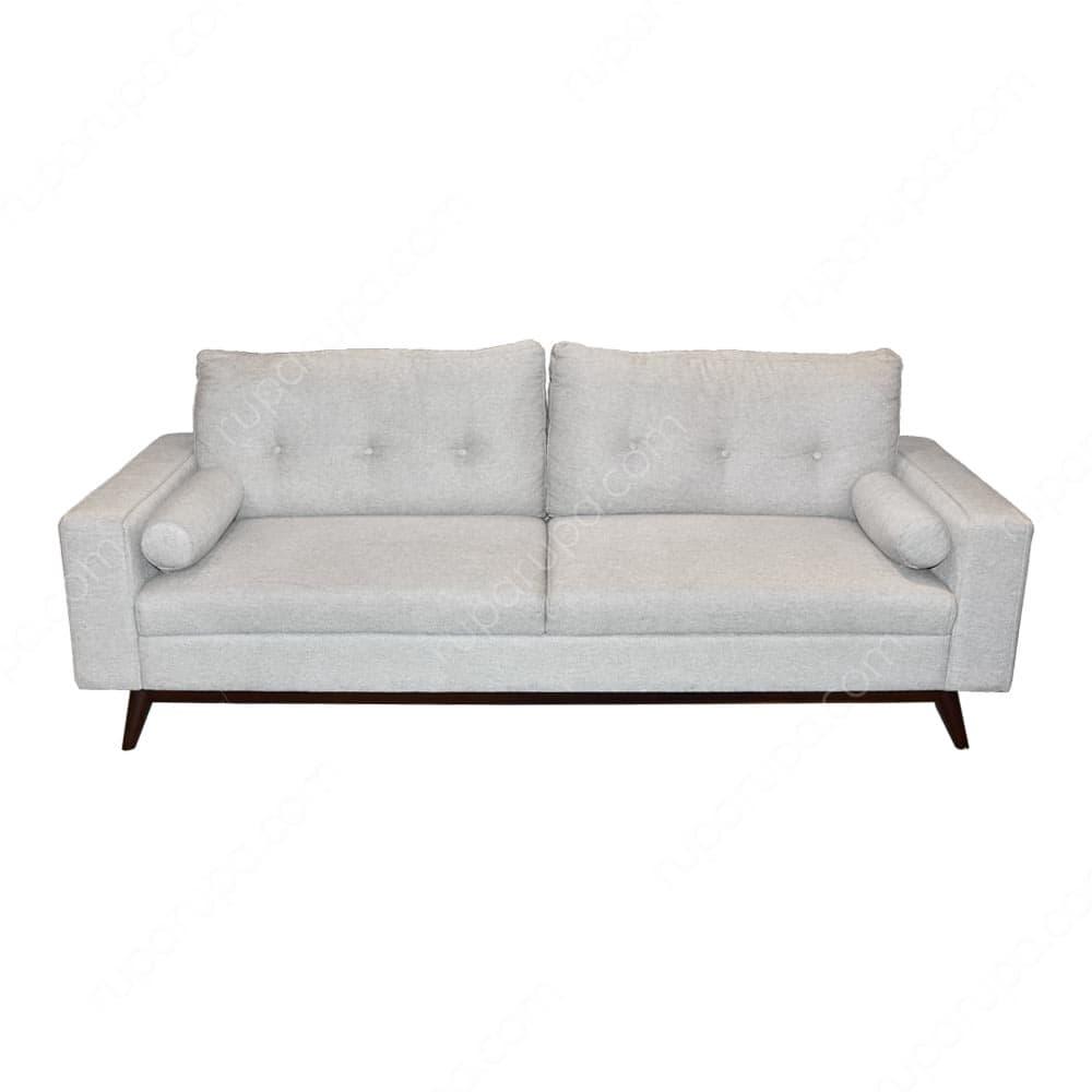 Sofa putih berukuran panjang