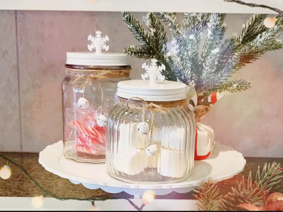 christmas festive jars