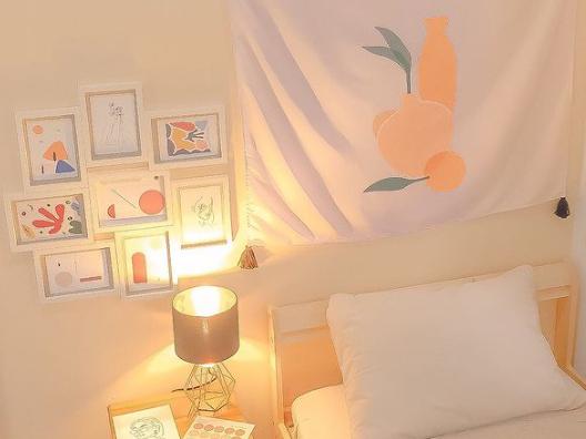 hiasan modern minimal art untuk kamar korea