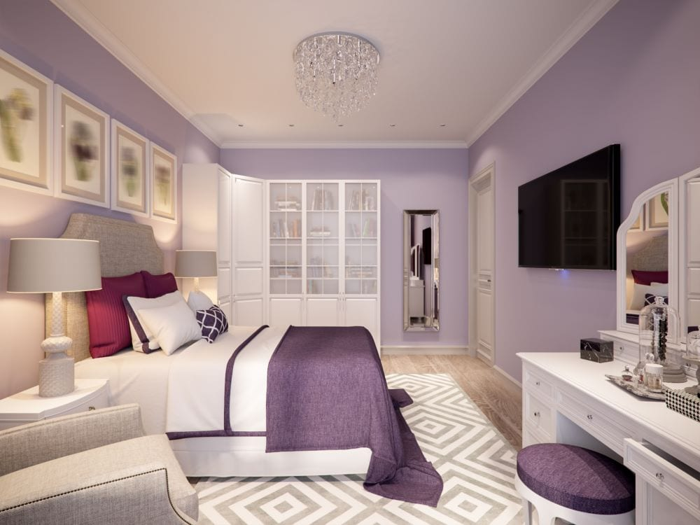 lilac room paint color