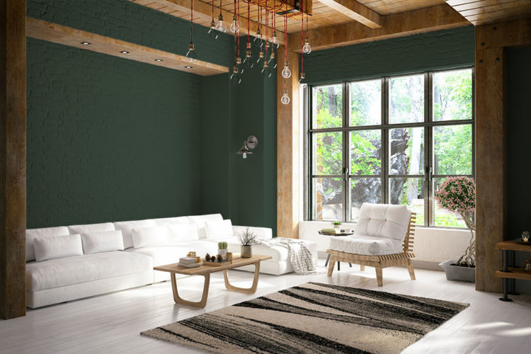 hunter green house paint color