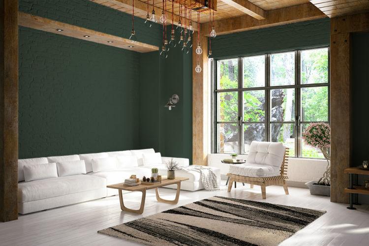 warna cat rumah hunter green