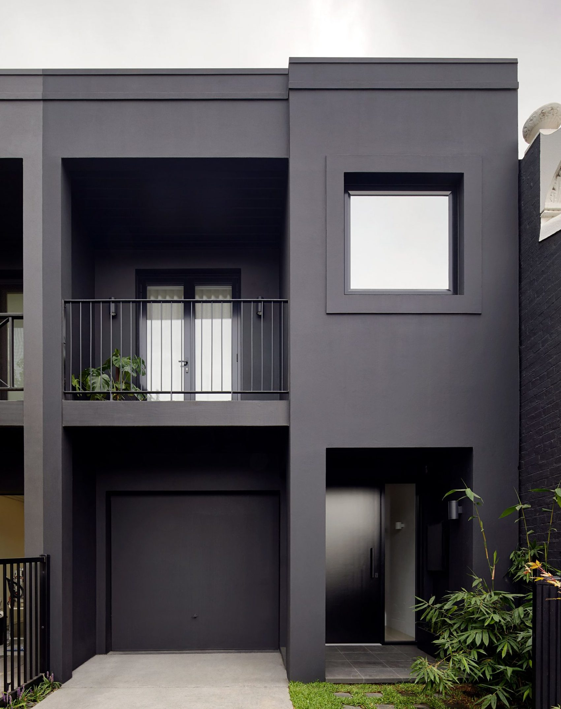 rumah minimalis hitam