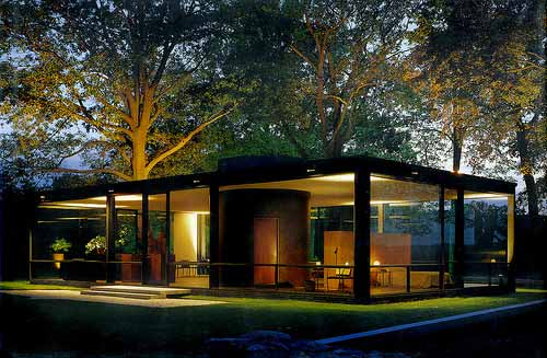 minimalist glass house