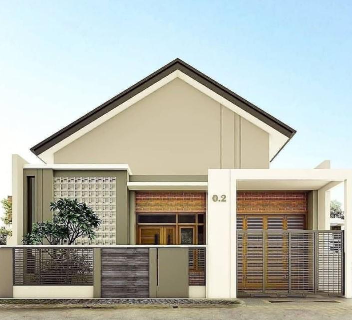 minimalist one story house