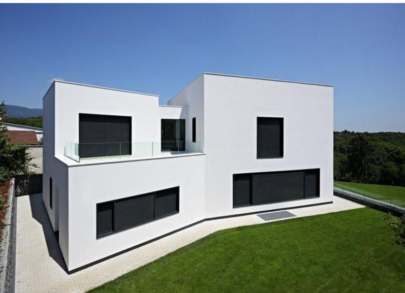 white minimalist house