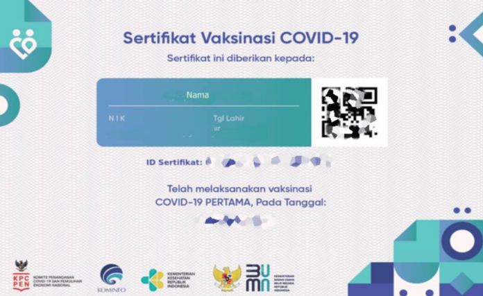 fungsi sertifkat vaksin