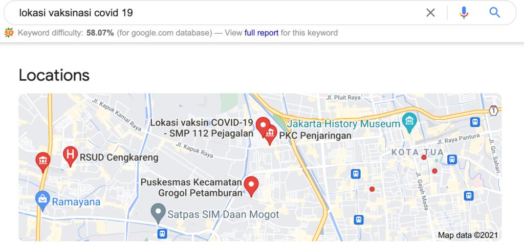 lokasi faskes vaksinasi