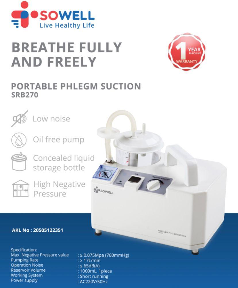 Sowell Portable Phlegm Suction Srb-270 info