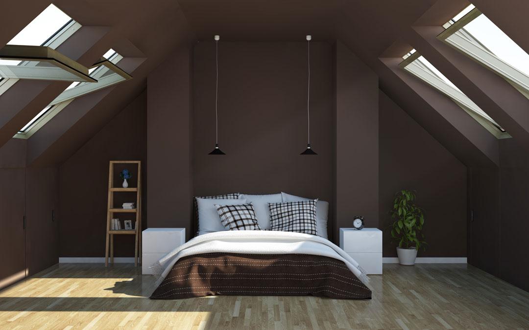 kombinasi warna cokelat dan hijau di rumah