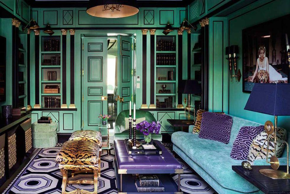 kombinasi warna hijau dan ungu